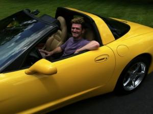 Driving Ron Wagner's Corvette